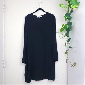 ASTR the Label Long Sleeved Tunic Dress Black  L